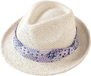 SOULEIADO 麦秆帽 [対象] 12ヶ月 ~ 24ヶ月 中折れ帽 パープル