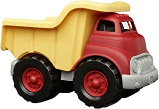 Green Toys 倾卸车 黄色和红色 - 无BPA,邻苯二甲酸酯,可促进总运动能力和精细运动技能发展的玩具。假扮游戏