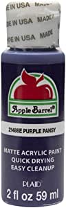 Apple Barrel 亚克力颜料多色可选(2 盎司),4471E,米色 紫色紫紫紫色堇 2 盎司 21488