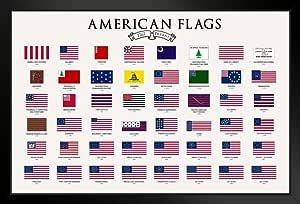 美国国旗图教室海报 30.48 x 45.72 厘米 裱框海报 14x20 inches 345271