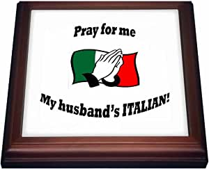 trv_163974 ToryAnne Collections Expressions - Pray for me My husbands ITALIAN. - Trivets 棕色 8 到 8 英寸