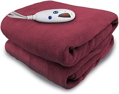 Biddeford 毛毯 超细毛绒电动加热抱毯,带数字控制器