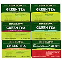 Bigelow Mixed Green Teas, 20 Count (Pack of 6)