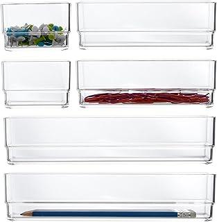 STORi 透明塑料抽屉收纳盒 6 件套