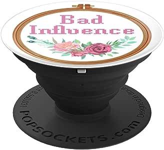 十字绣刺绣圈状物损坏流畅 - PopSockets 手机和平板电脑握架260027  黑色