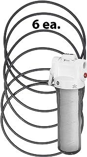 Kinetic Wares- KWGE25RG (WS03X10038) GE 6.35 厘米滤水器 GXWH01C、CXWH08C、GXWH04F、GXWH20F、GXWH20S、GXRM10 和 GX1S01R(6 件装)