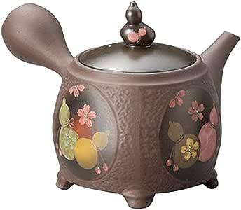 山下工艺 常滑烧 竹春窑变色钟葫芦樱花茶壶 300cc 13039330