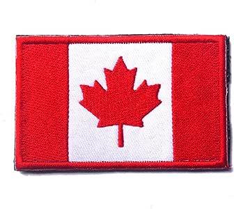 世界国旗补丁刺绣军事战术士气补丁 加拿大 GP-FLAGPATCH-W