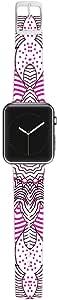 KESS InHouse Monika Strigel 38 毫米表带 适用于 Apple Watch Band - 非零售包装 - 圆点和条纹粉色