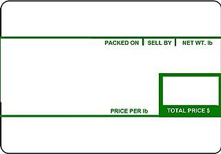 CAS LST-8010 打印比例标签,美国印刷,58 x 40 毫米,UPC 12 卷,*