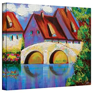 Art Wall German Village on Rhine Gallery Wrapped Canvas Art by Susi Franco, 18 by 24-Inch