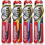 Colgate 高露洁 适齿炭多效牙刷×4 (升级含炭 软毛)(包装、颜色随机)