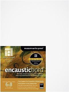 Ampersand Encausticbord 硬板板,适用于电磁和混合媒体 1/8 英寸深 6X8 Pack of 3 EN0608
