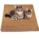 """猫咪抓地垫,天然剑麻猫刮擦垫,防滑猫爬垫,适用于地毯沙发沙发地毯保护 23.6""""x23.6"""""""