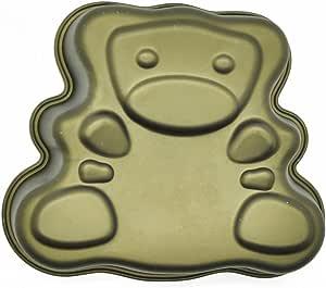 硅胶金熊迷你模具,硅胶,金色,20 x 12 x 3 厘米