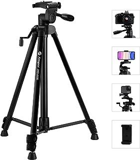 Fotopro 59 英寸相机三脚架,适用于 iPhone、手机三脚架、便携式三脚架、数码单反相机、Samsung Huawei iPhone 的相机支架