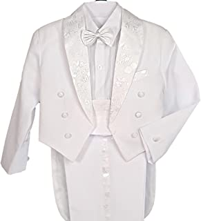 Lito Angels 男孩经典燕尾服,尾部正装婚礼套装 5 件套 001 011
