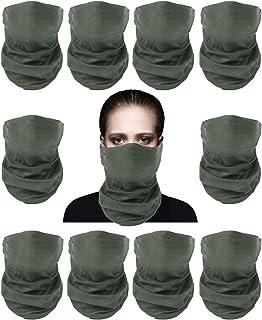 Sunland Tube 骷髅头面膜 头巾 魔术围巾 头带 颈套 10Pack 灰色 smMZcsgreyx10