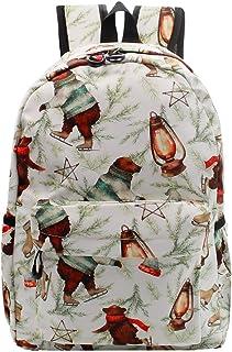 POWOFUN 学前背包 16 英寸轻质书包 幼儿园书包 休闲旅行背包 棕色熊
