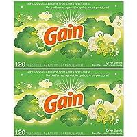 Gain Dryer Sheets Original,120 片 2片装 240.00