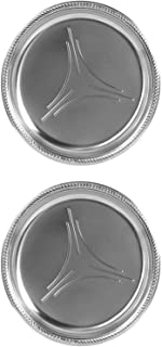 Alessi:Mercurio 酒杯垫钢垫,带镜面抛光边缘 - 2 件套