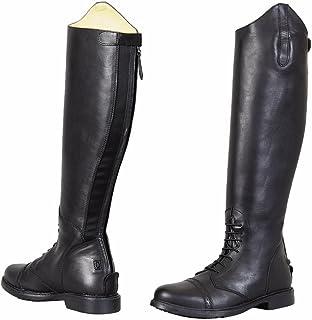 TuffRider 儿童巴洛克野外靴,黑色,3 修身常规