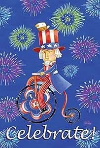 托兰 家居园艺 名流 Uncle Sam 71.12cm x 101.6cm 装饰彩色爱国火工艺美国 7 月 4 日国旗