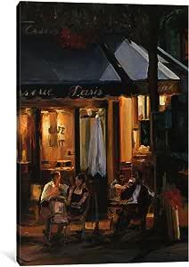 iCanvasART 1 件 La Brasserie III 油画印刷品,玛丽莲·哈格曼,101.6 厘米 x 66.04 厘米/3.81 厘米厚