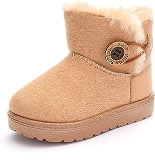 E-FAK 婴儿舒适羊毛靴带防滑底底新生儿婴儿床鞋雪地靴