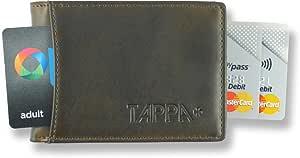 """Tappa 男士 RFID""""智能""""旅行钱包。 *高质量极简设计。 Quick Draw 卡片标签。 独特的""""TAP""""运输卡设计。 无金属零部件,刮擦、刺激或破损(复古)"""
