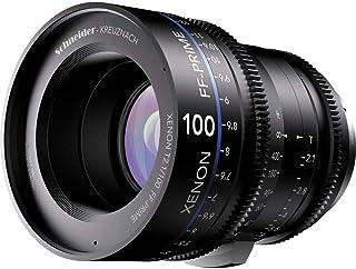 Schneider十字架 1078482 Cine 镜头 FF-Prime T2.1/100 毫米,Canon/ft 黑色