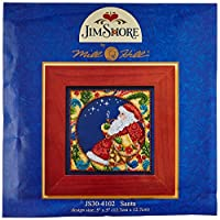 Mill Hill Jim Shore Santa Counted Cross Stitch Kit, 5 by 5-Inch