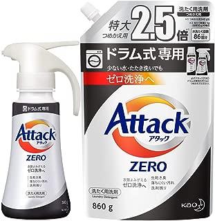 "【Amazon.co.jp限定】【团购】ATACACK ZERO(ZERO)洗净剂 液体 桶式* 一次洗手盆 主体380g + 替换用860g (换衣物时换洗的""零清洗"")"