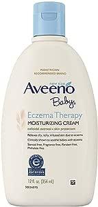 Aveeno Baby Eczema Therapy Moisturizing Cream 12 Ounce (354ml) (6 Pack)