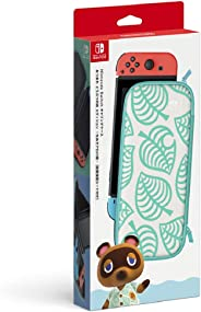 Nintendo 任天堂 Switch Lite攜帶盒 紅豆 動物森林 ~ 香波圖案 ~ 2) Switch用