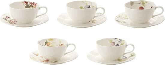 NARUMI 鸣海 露西花园 咖啡红茶通用杯 & 茶托(5组)210毫升 96010-23067P