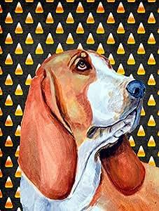Basset Hound Candy Corn Halloween Portrait Flag 多色 小号