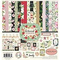 Carta Bella Paper Company CBBO98016 植物园系列套件纸张,粉色,*,黑色,红色,奶油色
