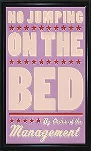 美国框架 No Jumping on The Bed-Girl 带框印刷品 52.07 厘米 x 30.48 厘米 John W. Golden-JOHGOL138526 Flat Black Metal Frame 20.5x12 138526-36-15FUSA