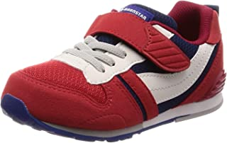 [MOONSTAR 月星] 运动鞋 上学用鞋 4大功能 鞋子 魔术 足育 宽松 MS C2121S 儿童 レッド/ネイビー 18.5 cm 2E