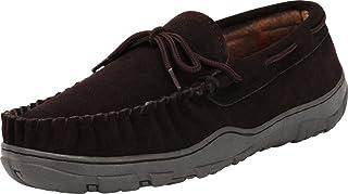 tamarac BY 拖鞋国际男式 NEVADA 格子羊毛衬里室内户外拖鞋