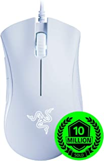 Razer DeathAdder Essential Gaming Mouse: 6400 DPI Optical Sensor - Chroma RGB Lighting - 5 Programmable Buttons - Mechanical Switches - Rubber Side Grips - White