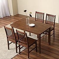 致林 奥斯陆系列实木餐桌椅组合 一桌四椅(亚马逊自营商品, 由供应商配送)