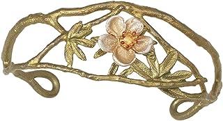 """Tundra Rose""可调节袖口手镯 Michael Michaud 银色季节……"