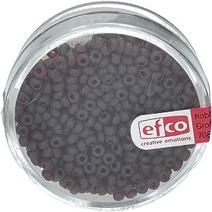 Efco 1023129 2.6 毫米 17 克 印度珠子哑光透明,深红色