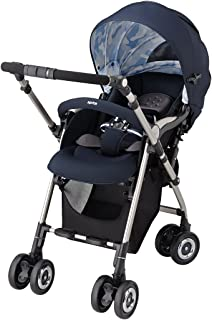 Aprica(阿普麗佳) 高景觀嬰兒車 SORARIA 黑灰 NV 雙面型 【3年保修+ 搭載自動4輪機能】92778