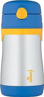 THERMOS 膳魔师 FOOGO真空绝缘不锈钢 10盎司 瓶子, 蓝色/黄色