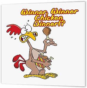 Dooni Designs Random Toons - Winner Winner Chicken Dinner Irony Humor - Iron on Heat Transfers