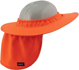 Chill-Its 6660 Attachable Hard Hat Brim with Neck Shade, Orange