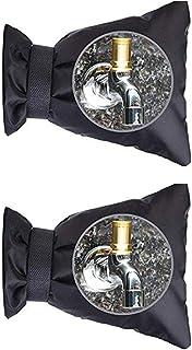 KUOOAN 水龙头套户外花园水龙头套袜冬季冻保护,加大尺寸通用可重复使用防水绝缘龙头套,2 件装 2 PACKS